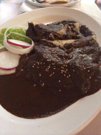 El Meson del Marques: Enchiladas in a mole sauce