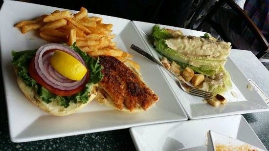 Flippers on the Bay: Sandwich and Salad