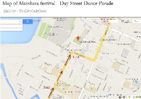 Day time Street Dance Parade route