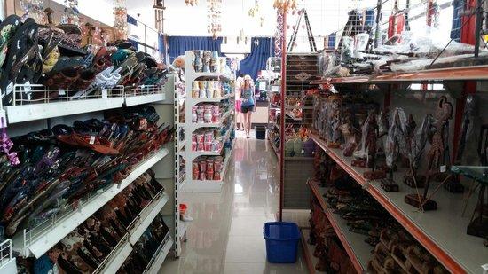 Bintan Agro Beach Resort: Inside souvenier shop