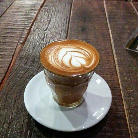 Flat white - Picture of Giyanti Coffee Roastery, Jakarta ...