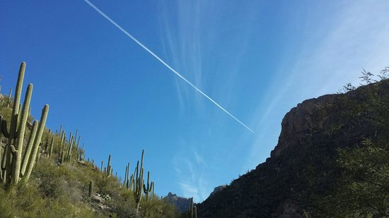 Sabino Canyon : Jet in the sky...