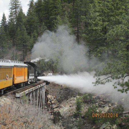 Durango and Silverton Narrow Gauge Railroad and Museum: if u look away, u'll miss it!! haha
