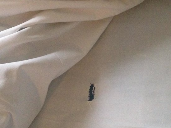 Hotel Prins Hendrik: Buco nelle lenzuola