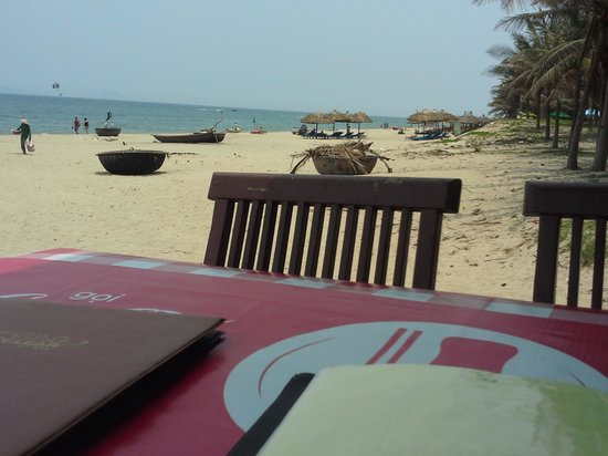Palm Garden Beach Resort & Spa: view from a nearby Beach Cafe