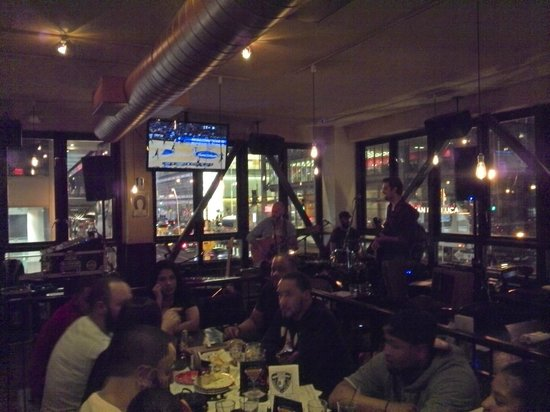 Beer Authority NYC: Upstairs, and the band playinin the corner
