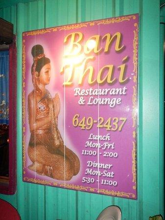 Ban Thai: Тайская кухня