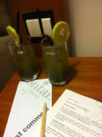 Fontana Hotel Bali: welcome drink