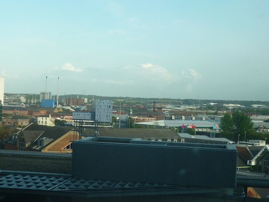 Hilton Leeds City: View across Leeds from room 921