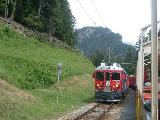 Bernina Pass: Bernina Express - picture from open carriage