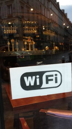 Tabac des Ministeres: They do have WiFi!