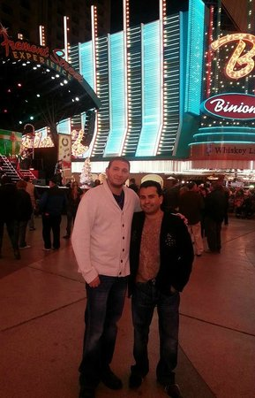 Binion's Horseshoe Hotel & Casino Las Vegas: my brother in law before heading to binions