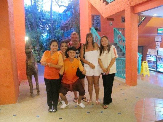 Baan Samui Resort : Some of front desk staff
