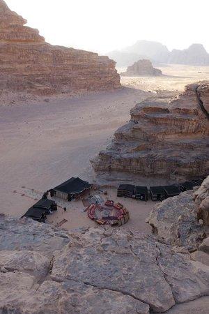 Captain's Desert Camp : Nachtlager von oben