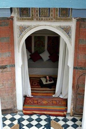 Dar el Qadi: chambre patio