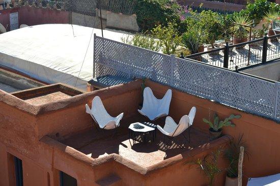 la terrasse du riad Dar el Qadi
