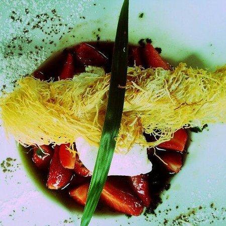 L'Auberge du Cens : fraise au basilic