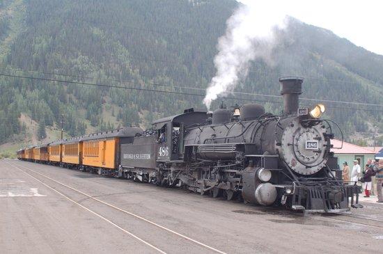 Durango and Silverton Narrow Gauge Railroad and Museum: In sosta a Silverton
