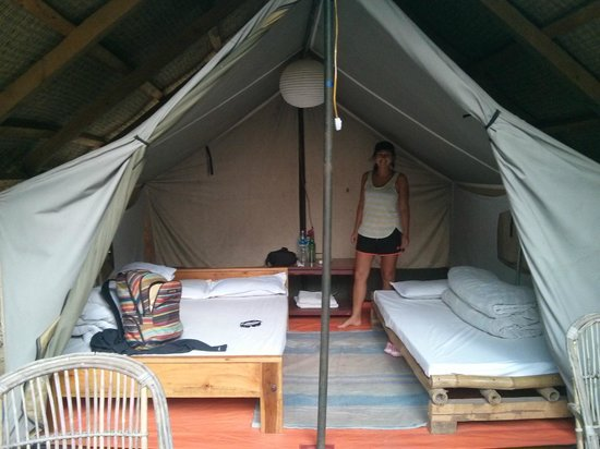 The deluxe two bed tent & Glamping! The deluxe two bed tent - Picture of Ultimate Descents ...
