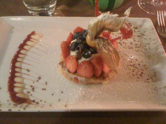 L'Ortolan : tartelette à la fraise