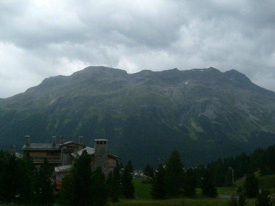 Mount Corvatsch: view from St. Moritz