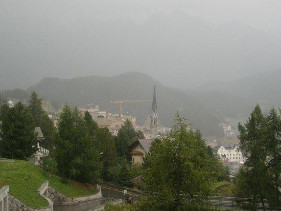 Mount Corvatsch : view over St. Moritz