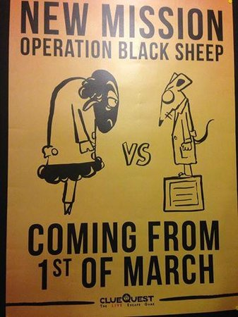 clueQuest - The Live Escape Game : Operation Black Sheep
