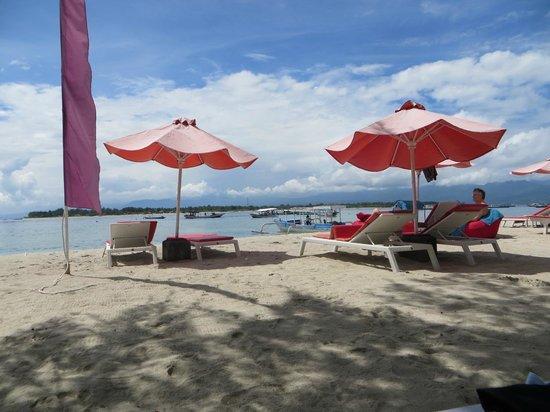 Danima Resort & Restaurant : View of beach from eating area