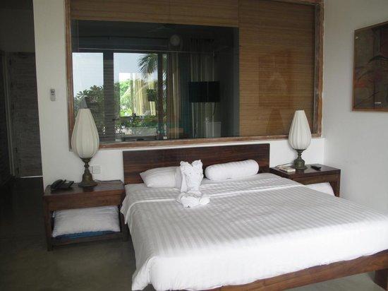 Roman Beach: Notre chambre, vue du balcon