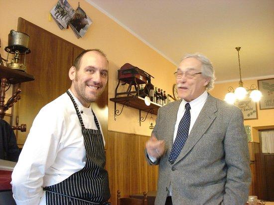Osteria Vallebona: lo chef nonchè proprietario a colloquio con santità locale