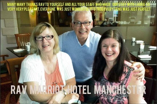 Manchester Airport Marriott Hotel: Our Thank You