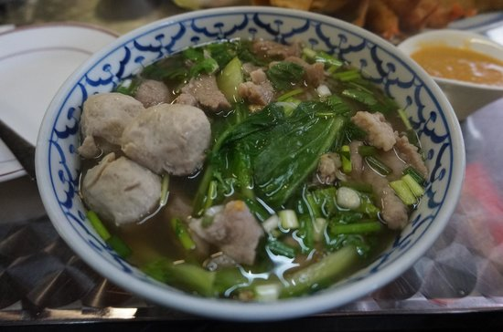 Khoua Vientiane: Pho with pork (I love it!)