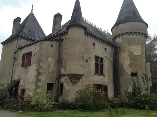 Chateau de Ribagnac : Château depuis derrière