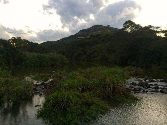 Karkloof Safari Spa: A view up the uMgeni River to the escarpment