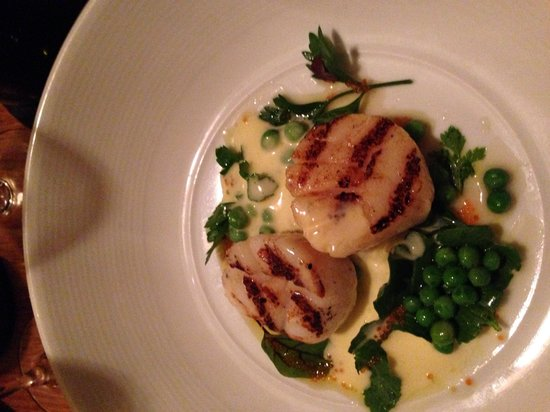 Restaurant Botanica: Seared Scallops! Absolutely delicious!
