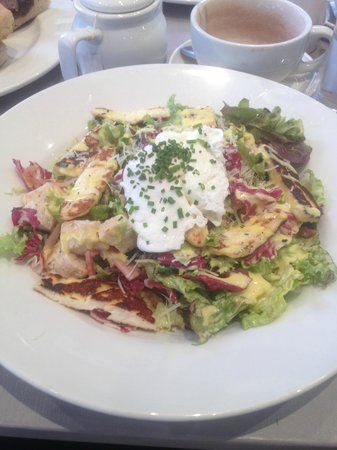 The Lighthouse Cafe and Bar: Caesar Salad topped with runny poached egg .. yum