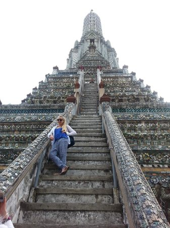 Wat Arun (Tempel der Morgenröte): The steps