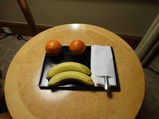 Grand Metropark Hotel Nanjing: Fruit platter on our arrival