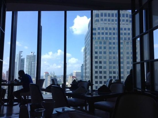 The Continent Hotel Bangkok by Compass Hospitality: View on the 28th floor from where you eat breakfast