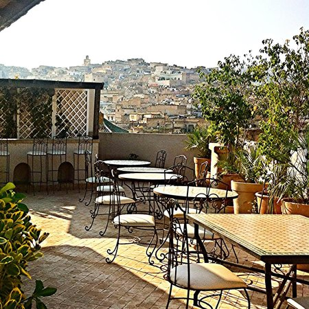Riad Andalib: View from rooftop patio