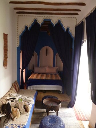 Riad Blueberber : blue room
