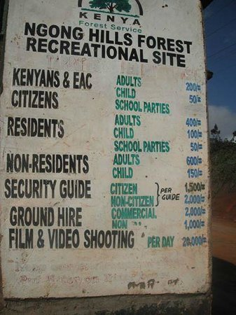 Ngong Hills: Latest admission and ranger prices