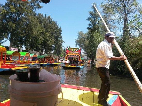 Xochimilco : Trajineras no Lago