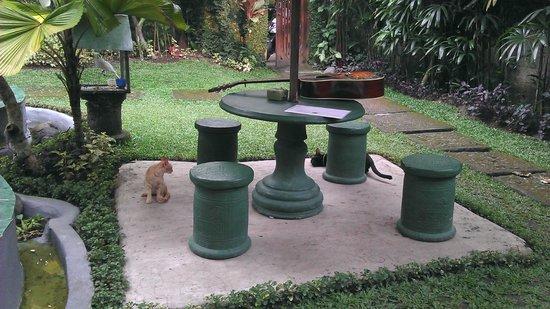 Runa Guesthouse: Umbrella table