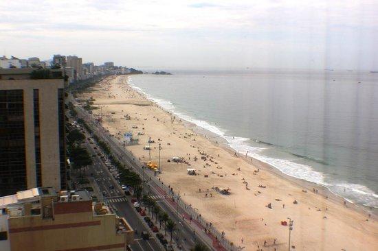 Hotel Marina Palace Rio Leblon: view over leblon and onto ipanema