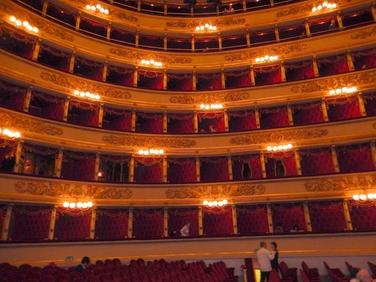 Scala de Milan (Teatro alla Scala) : The interior of La Scala