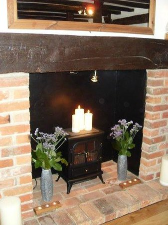 Midhurst, UK: The olive and vine's fire place