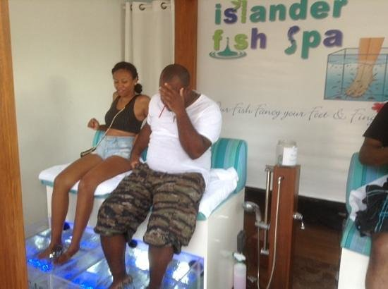 Best facial expression of the day picture of islander for Fish pedicure locations near me