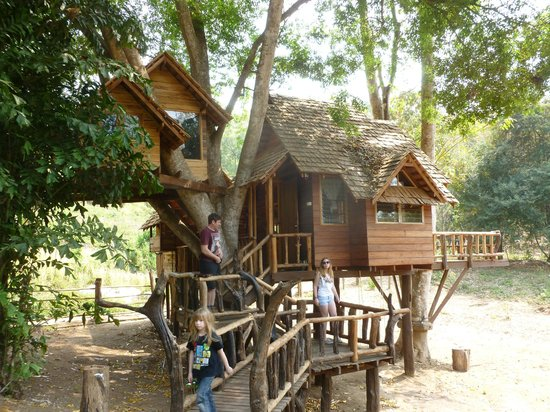 Rabeang Pasak Tree House Resort: Our house from outside