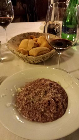 Trattoria Pane & Vino : Risotto mantecato all'Amarone